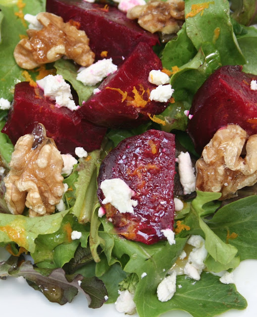 classic and colourful beets goat cheese and walnuts are natural ...