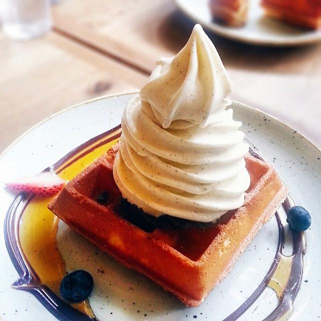 Sunday Folks Vanilla Bean Waffle Soft Serve