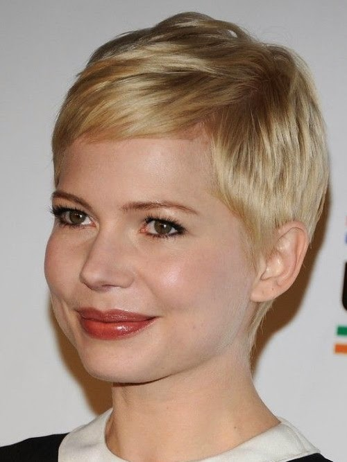 very short hairstyles for round faces women