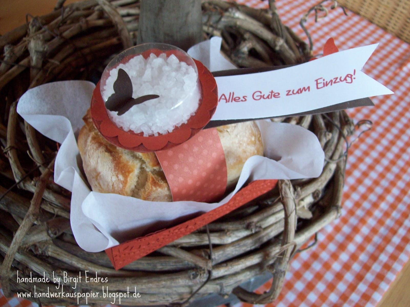 Handwerk aus papier einzugsgeschenk brot und salz - Einweihungsgeschenk wohnung mann ...