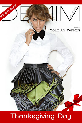 Nicole Ari Parker en couv' de Denim Magazine Holiday Issue