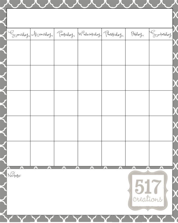 Blank Calendar Print Outs | Search Results | Calendar 2015