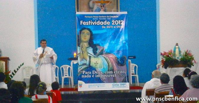 Cartaz da Festividade 2012 - Paróquia Nossa Senhora da Conceição Benfica/PA