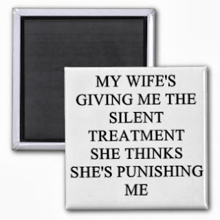 Giving my husband the silent treatment