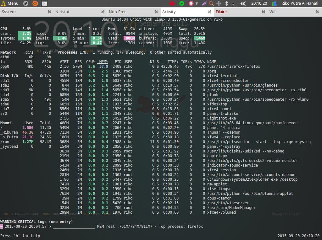 cara ceki spek komputer laptop linux