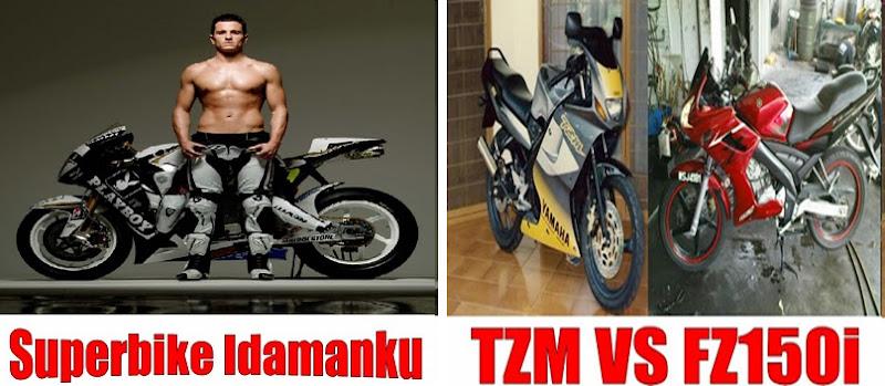 20* Yamaha TZM & Yamaha FZ150i title=