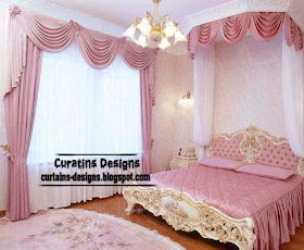 Luxury Bedroom Curtains And Drapes Pink Style: