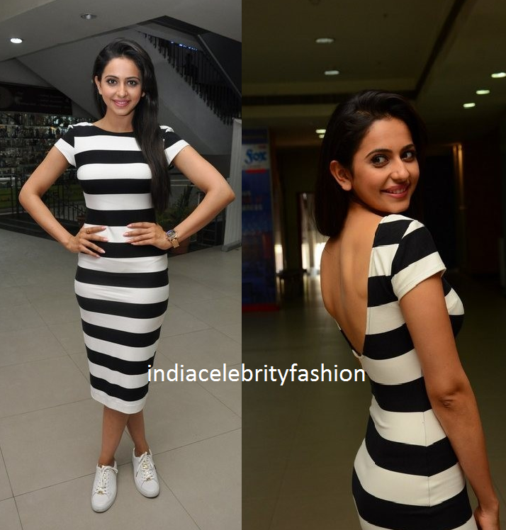 Rakul preet singh in Zara for Bruce lee promotions
