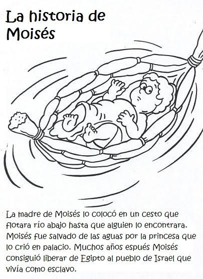 Dibujos del bebé moises para colorear - Imagui