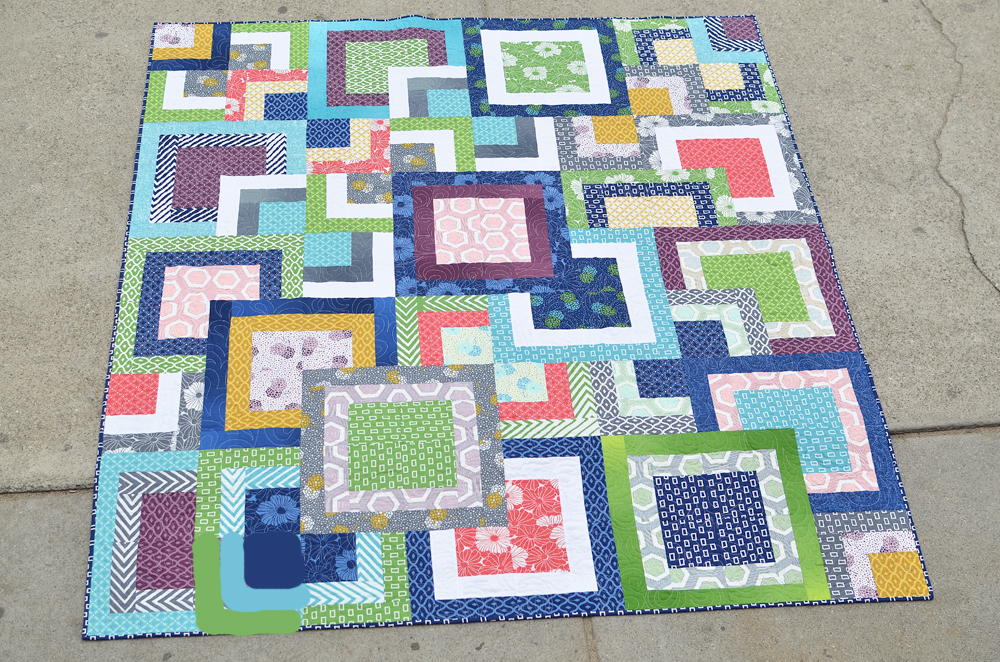 Quilt Patterns From Squares : Simply Style Stacked Squares Quilt Moda Bake Shop