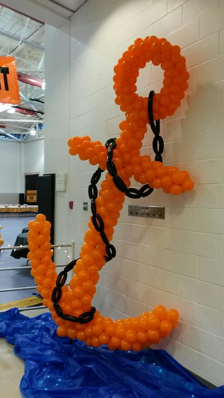 Party people event decorating company may 2015 for Anchor balloon decoration