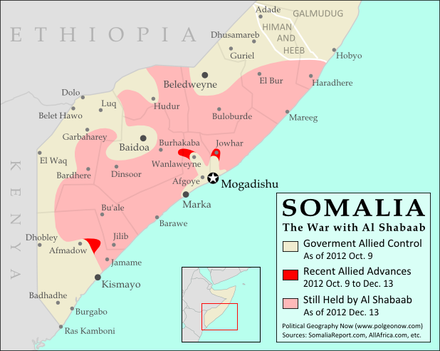 Somalia Al Shabaab Map Update Dec Political Geography Now - Al map