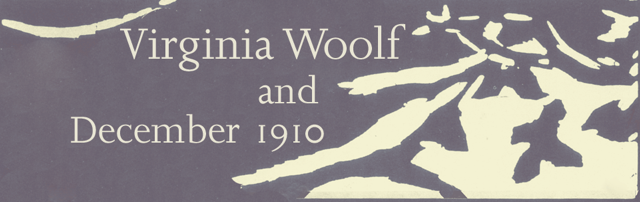 Virginia Woolf and December 1910