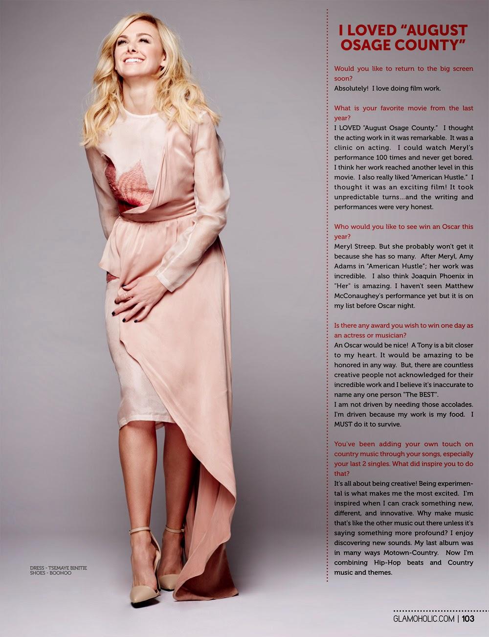 Laura Bell Bundy - Glamoholic Magazine US, March 2014