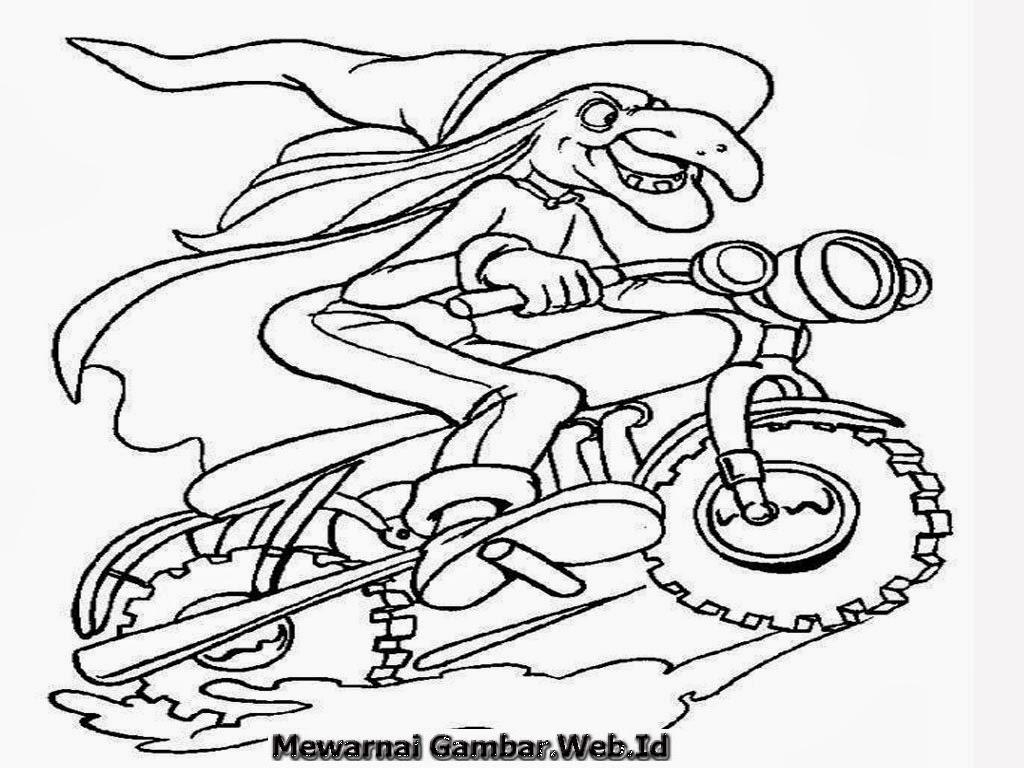 Contoh Gambar Sketsa Sepeda 28 Gambar Mewarnai Kartun