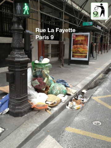 Photos malpropreté du 9ème arrondissement de Paris