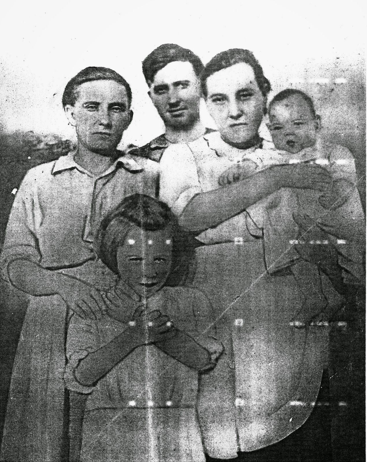 Coy Thomas Mathis and family in the 1910s