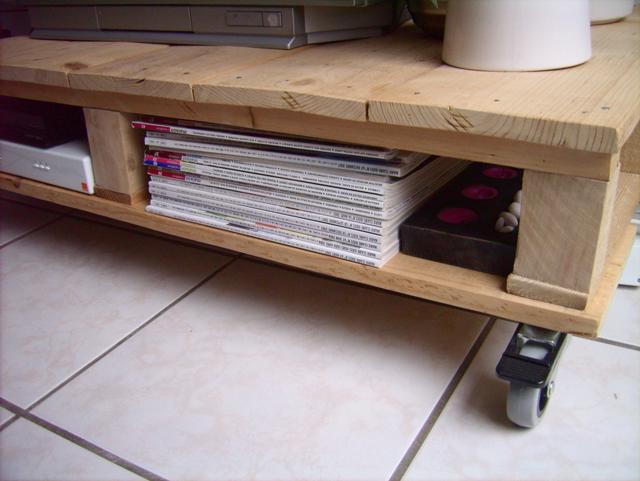 Rack para tv de paletes de madeira reciclado