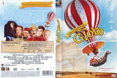 Cover, dvd, carátula: Cinco semanas en globo | 1962 | Five Weeks in a Balloon