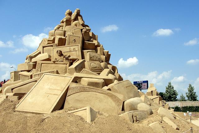 Fantásticas esculturas de areia