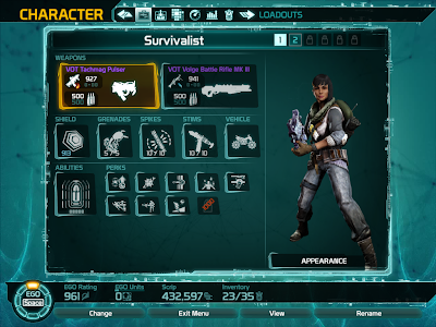 Defiance - Equipment Loadout
