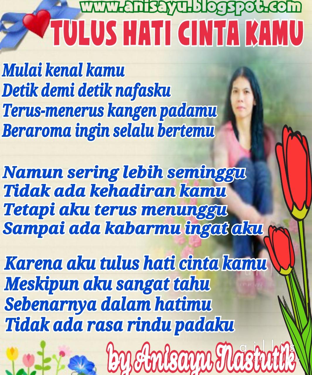 puisi cinta tulus dari hati