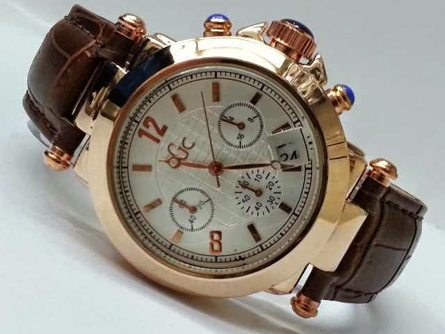 Guess GC Triple Chrono coklat