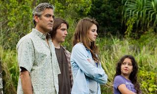Imagen de la película Los descendientes, protagonizada por George Clooney