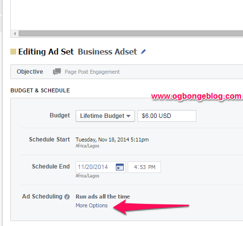 schedule fb ads