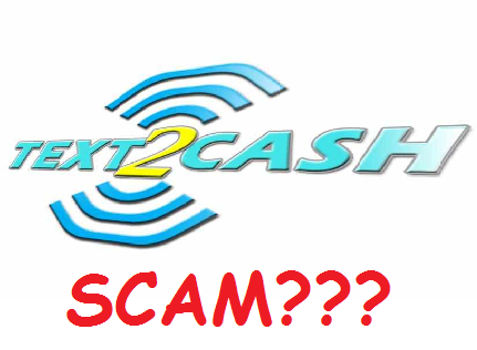 text2cash scam or not