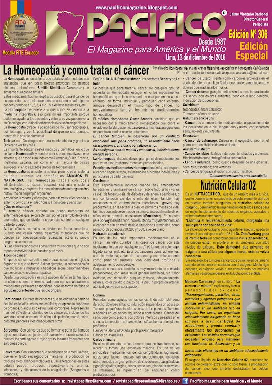 Revista Pacífico Nº 306 Edición Especial La Homeopatía