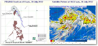 Bagyong Gener July 30, 2012