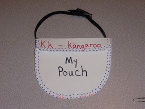 K is for Kangaroo:  Make your own pouch and be like a Kangaroo!