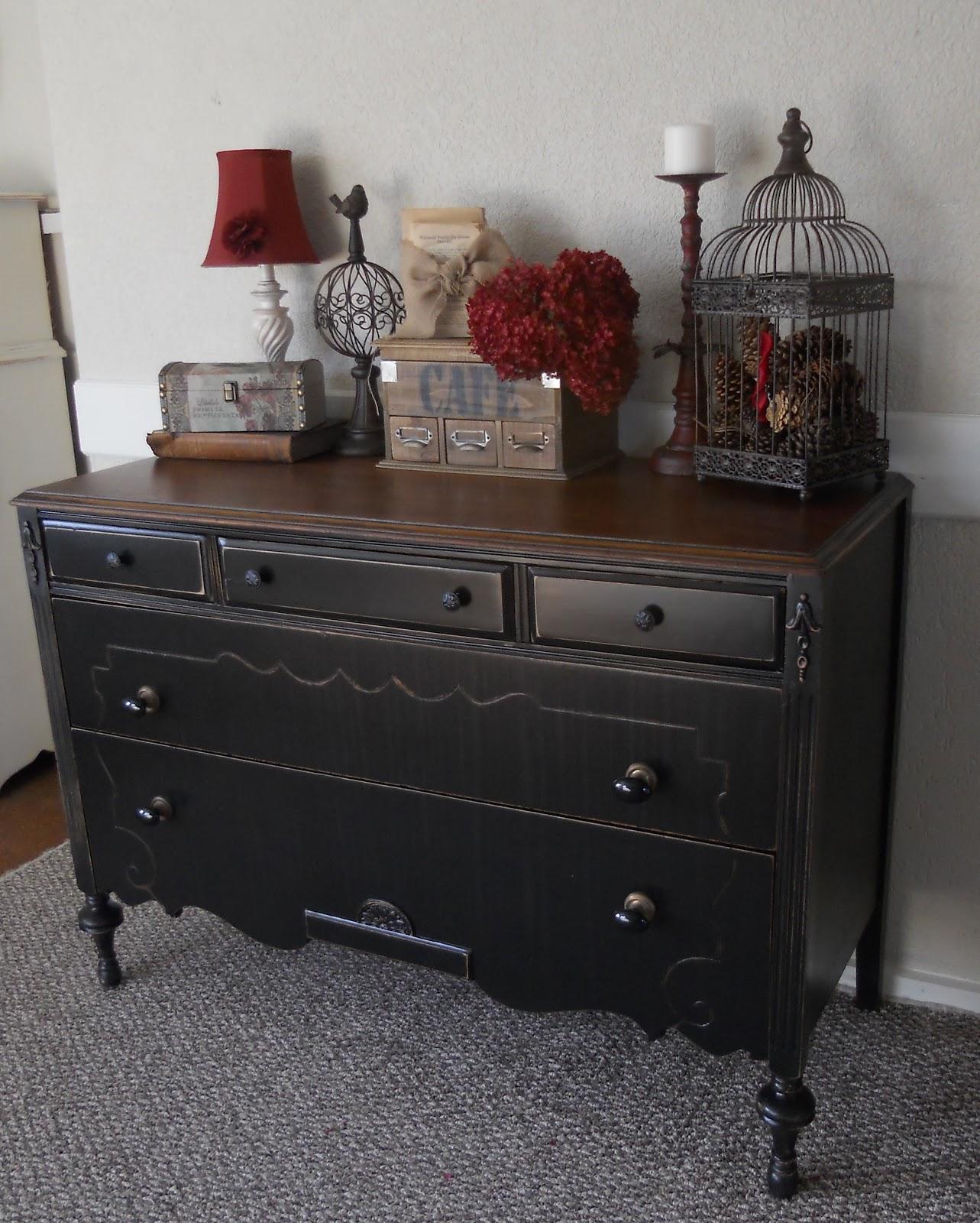 Createinspire Back To Black Antique Dresser