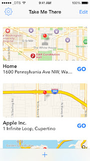 take me there iphone app navigation