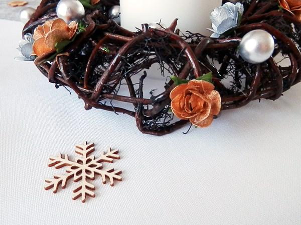 DIY : Couronne centre de table de Noël