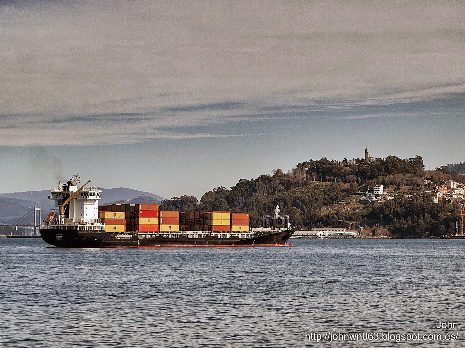 fotos de barcos, imagenes de barcos, corsar, containero, container ship, vigo