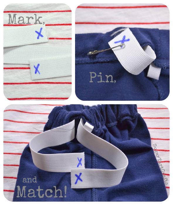 Keep elastic from twisting when sewing