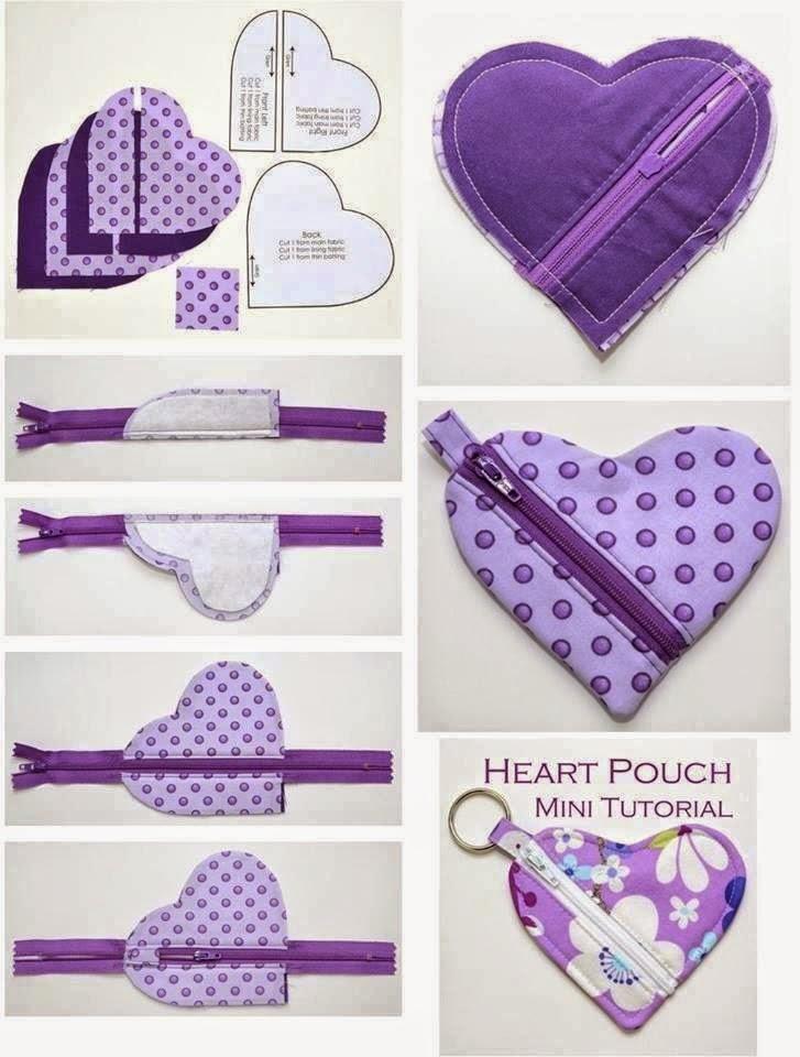 Con hilo y telas patrones de bolsos y monederos - Hacer bolsos de tela paso a paso ...