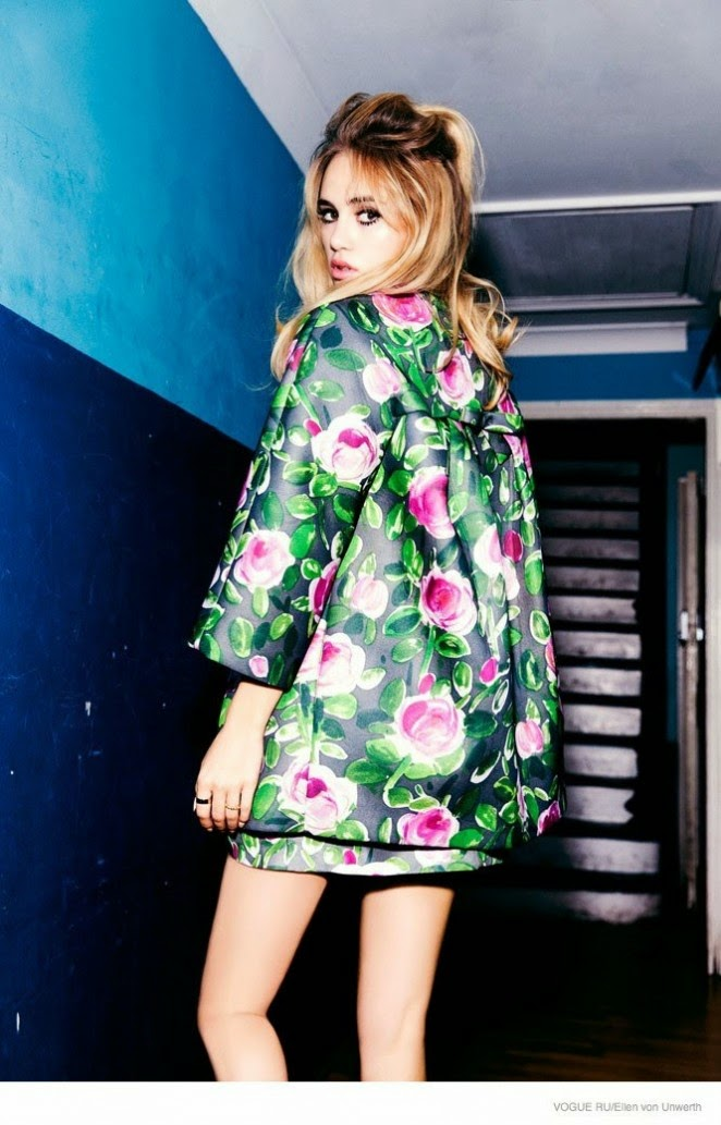 Suki Waterhouse is featured for a Vogue Russia November 2014 photoshoot