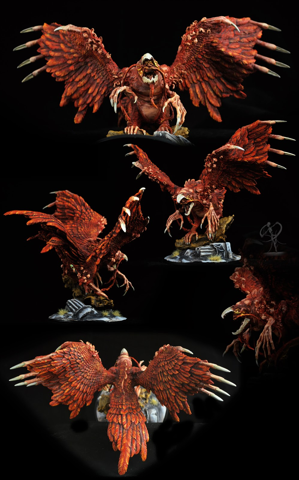 This is the second time I ve painted the Phoenix  and it s just an epic  model  regarding both scale and detail  and quantity of creepy little  hands. SpiralingCadaver  Reincarnation   Kingdom Death Phoenix