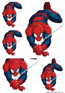 Etiquetas spiderman para imprimir