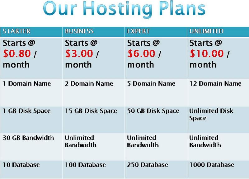 Hosting giá rẻ chỉ từ 0.8$ 1 tháng