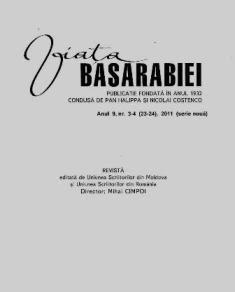Viata BASARABIEI PUBLICATIE FONDATA IN ANUL1932. Anul.9,nr.3-4(23-24), 2011 (serie noua).