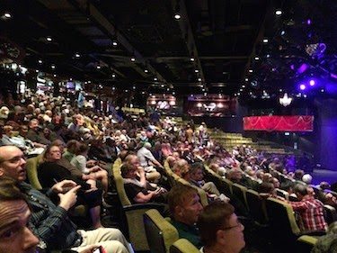 Chuck and Lori's Travel Blog - Audience Waiting for Show on Norwegian Epic
