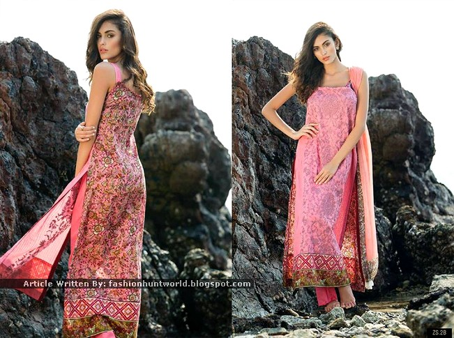 Pink Traditional Lawn Prints