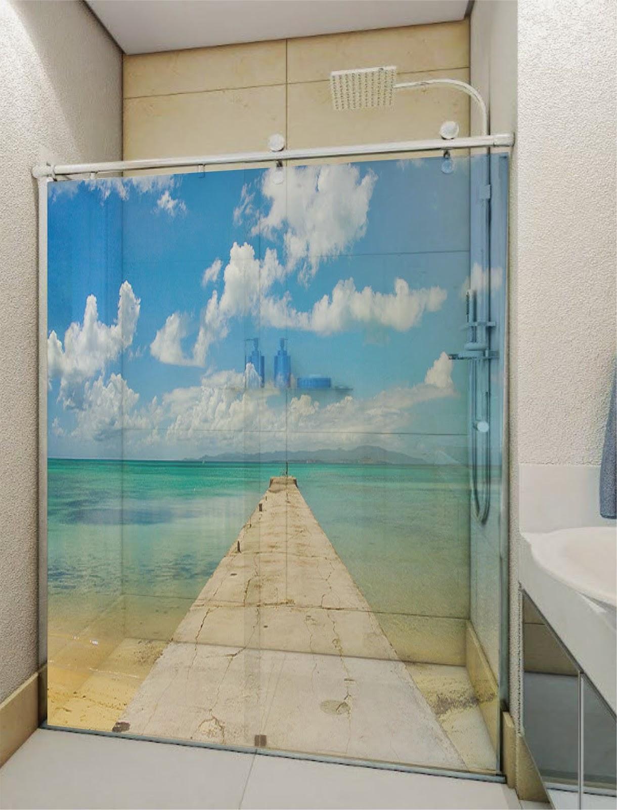 Imagens de #327499 GARAGE 75 ADESIVOS: Adesivo decorativo box banheiro/Jateado/ Bauru 1220x1600 px 2868 Box Banheiro Jateado