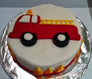 How To Decorate A Fire Truck Cake