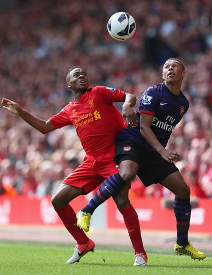 Sterling Chamberlain Liverpool v Arsenal 2012