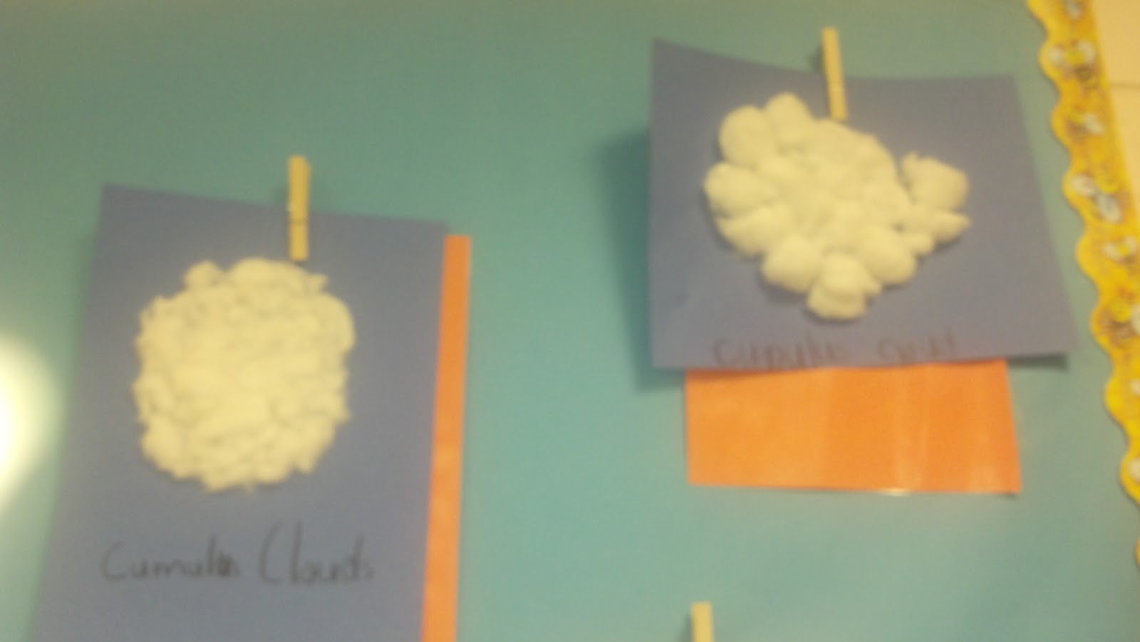 how to make clouds with cotton balls